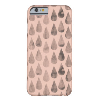 Gray Raindrops Barely There iPhone 6 Case