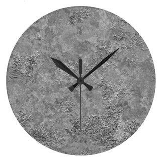 Gray Raw Concrete/Cement Industrial Clock