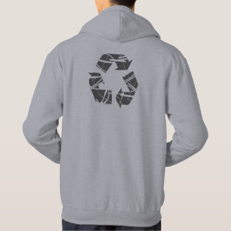 Gray Recycling Sign Hoodie