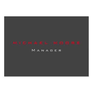 Gray red exclusive unique private large business cards (Pack of 100)