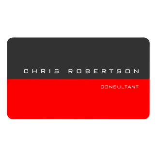 Gray Red Modern Simple Business Card