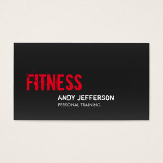 Gray Red Personal Trainer Sport Fitness Business Card