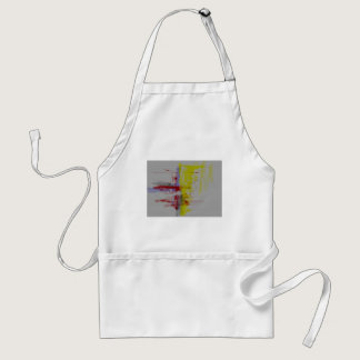 Gray Red Yellow Abstract Expressionist Adult Apron