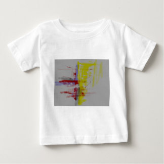 Gray Red Yellow Abstract Expressionist Infant T-shirt