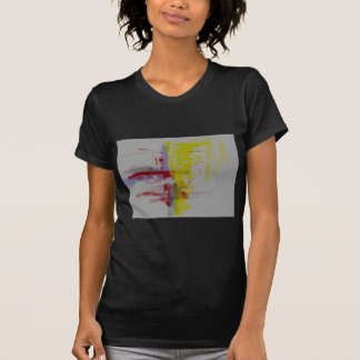 Gray Red Yellow Abstract Expressionist T-Shirt