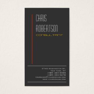 Gray Red Yellow Attractive Charming Business Card