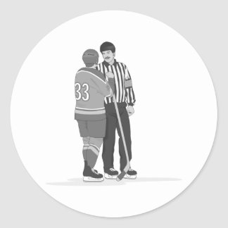 Gray Ref Discussion Classic Round Sticker