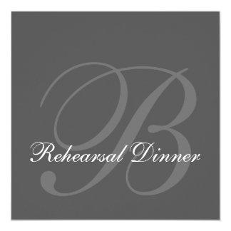 Gray Rehearsal Dinner Wedding Invitation