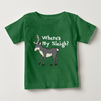 Gray Reindeer with Antlers Baby T-Shirt
