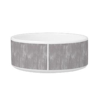 Gray Retro Canvas Grunge Texture Cat Water Bowls