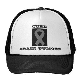gray ribbon 2, CURE, BRAIN TUMORS Trucker Hats