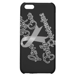 Gray Ribbon Awareness Love Hope Determination Cover For iPhone 5C