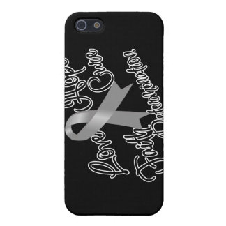 Gray Ribbon Awareness Love Hope Determination Cases For iPhone 5