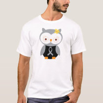Gray Ribbon Awareness Owl T-Shirt
