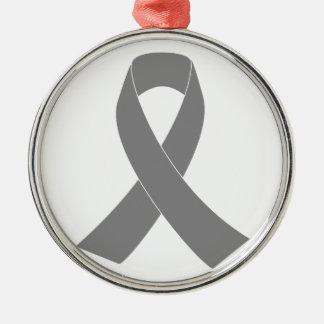 Gray Ribbon Awareness - Zombie, Brain Cancer Ornament