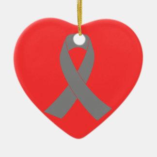 Gray Ribbon Awareness - Zombie, Brain Cancer Ornaments