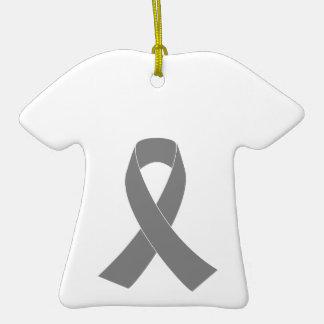 Gray Ribbon Awareness - Zombie, Brain Cancer Christmas Ornament