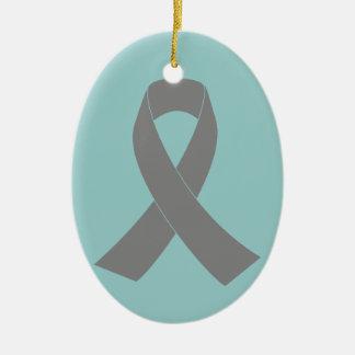 Gray Ribbon Awareness - Zombie, Brain Cancer Christmas Ornaments