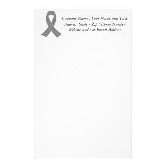 Gray Ribbon Awareness - Zombie, Brain Cancer Stationery