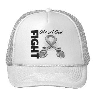 Gray Ribbon Fight Like A Girl Trucker Hat