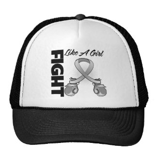 Gray Ribbon Fight Like A Girl Trucker Hats