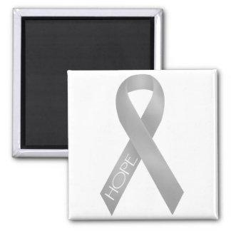 Gray Ribbon Refrigerator Magnets