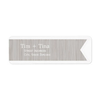 Gray Ribbon Return Address Label