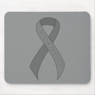 Gray Ribbon Support Awareness Mouse Pad