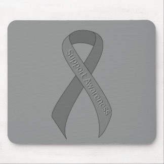Gray Ribbon Support Awareness Mouse Pad