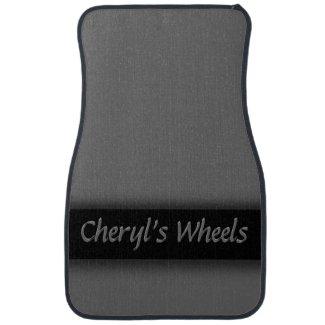 Gray Ribboned Personalized Car Mat