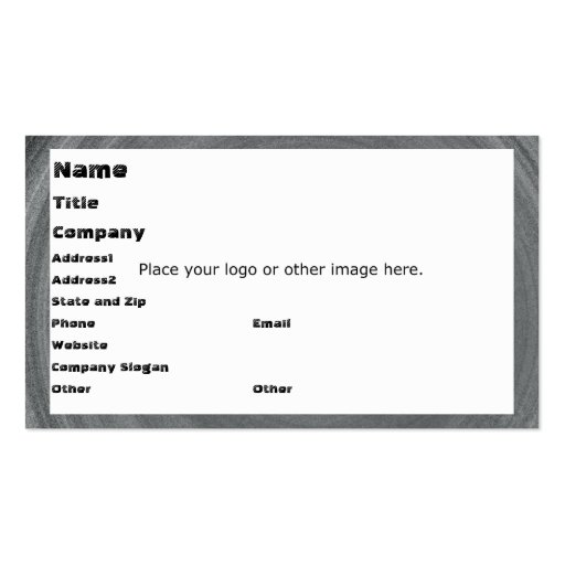 Gray Ripples Business Card Template