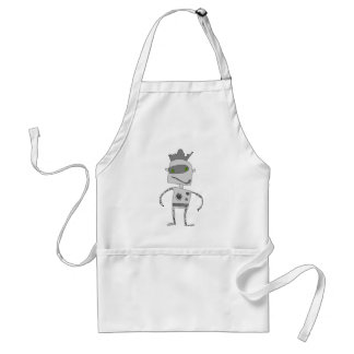 Gray Robot Buddy Adult Apron