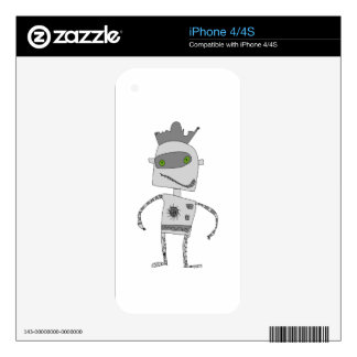 Gray Robot Buddy Skins For The iPhone 4S