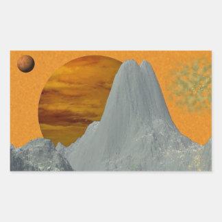Gray Rocky Mountain World Stickers