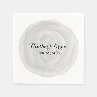Gray Round Watercolor Paper Napkins