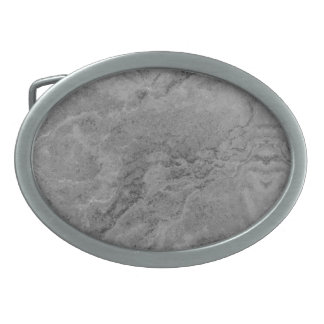 Gray Sandstone Oval Belt Buckle