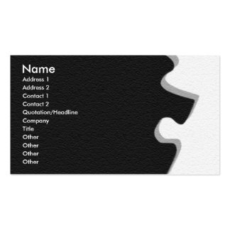 Gray Sandstone Puzzle Profile Card Double-Sided Standard Business Cards (Pack Of 100)