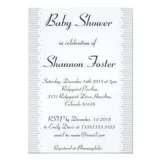 Gray Scalloped Cute Baby Shower Invitation