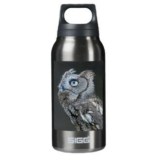 Gray Screech Owl Insulated Water Bottle