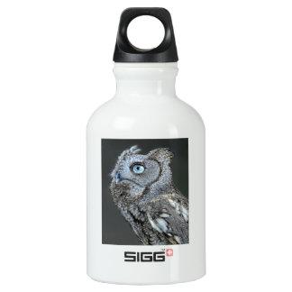 Gray Screech Owl Water Bottle