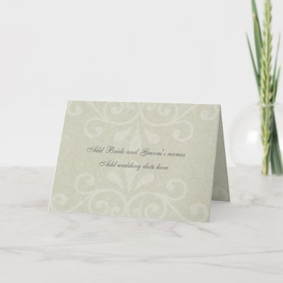 Gray Scroll Formal Wedding Invitation Card by bellabridals