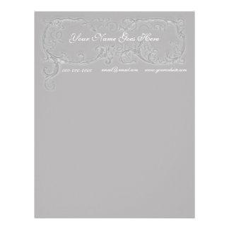 Gray Scrolls Letterhead