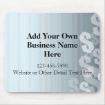 Gray Shades Dollar Signs Financial Design Mouse Pad