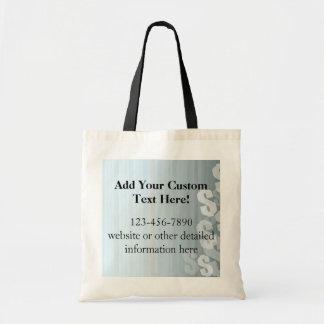 Gray Shades Dollar Signs Financial Design Tote Bag