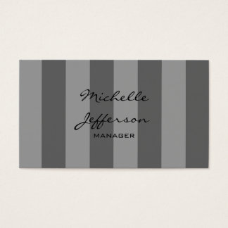 Gray Shades Stripes Pattern Manager Business Card