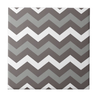 Gray Shades With White Zigzags Tile