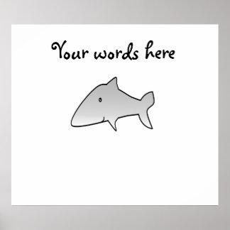 Gray shark poster