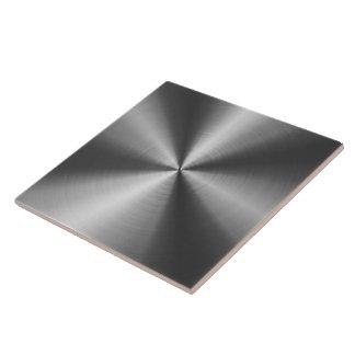 Gray Shiny Metallic Design Stainless Steel Look Tiles