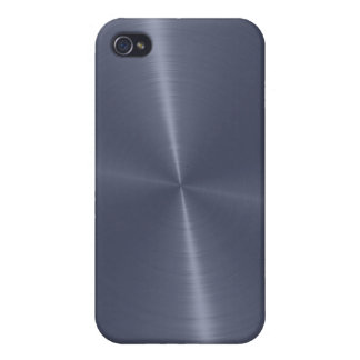 Gray Shiny Stainless Steel Metal iPhone 4/4S Covers