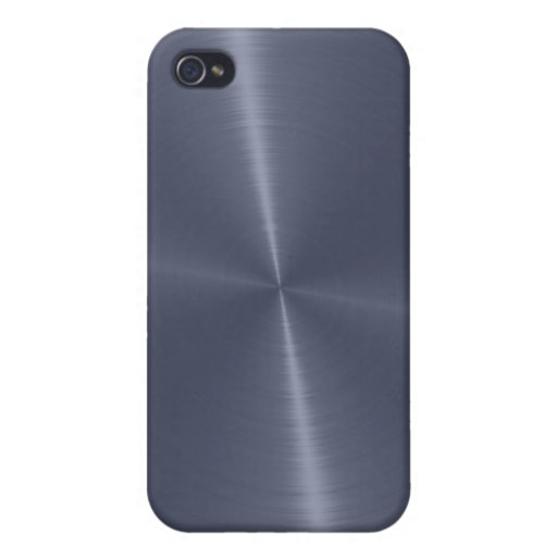 Gray Shiny Stainless Steel Metal iPhone 4/4S Cases